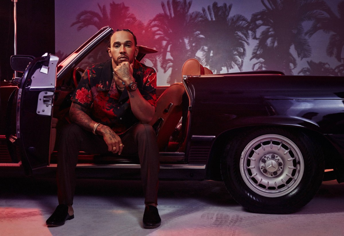 Lewis Hamilton for IWC Schaffhausen by Pascal Kerouche represented by stoever artists