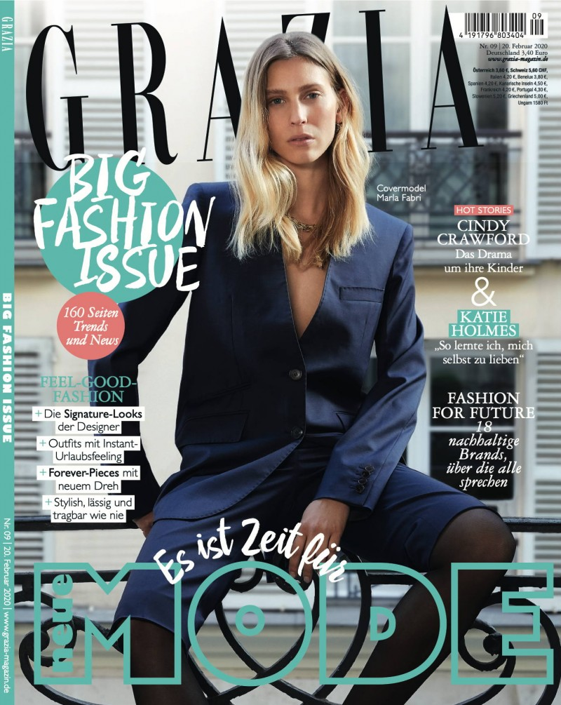 Grazia Cover by Wendelin Spiess represented by stoever artists